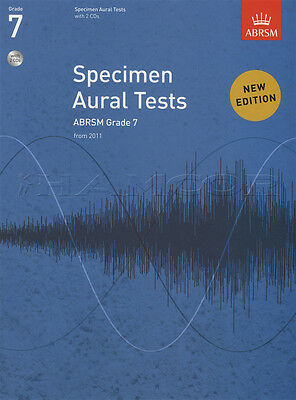 Specimen Aural Tests from 2011 Grade 7 Sheet Music Book with 2 CDs ABRSM