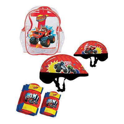 NEW! Blaze And The Monster Machines Helmet Knee Pads Elbow Pads & Bag Protection