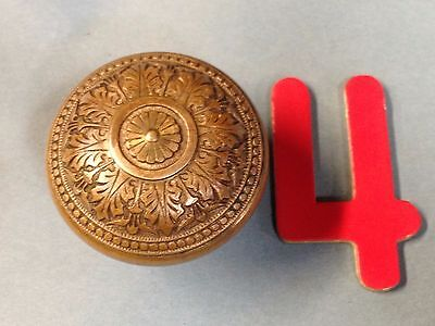 Antique Vintage Bronze Russell And Erwin 1870's Ornate Door Knob Lot 4