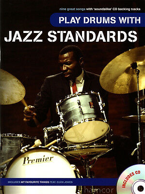 Play Drums with Jazz Standards Music Book & Play-Along CD Take Five Crazy Rhythm