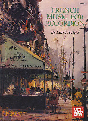French Music for Accordion Sheet Music Book by Larry Hallar