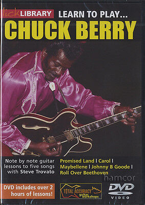 Learn to Play Chuck Berry Lick Library Guitar DVD by Steve Trovato