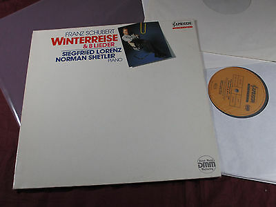 Schubert  WINTERREISE & 8 LIEDER  Siegfried Lorenz Capriccio 2 LP-Set near mint