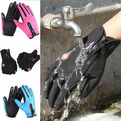 Neu Wasserdicht Thermo Winter Handschuhe Finger Touch klappbar Sport Warm Gloves
