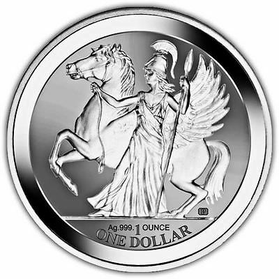 British Virgin Islands 2017 Pegasus Reverse Silver Bullion Coin