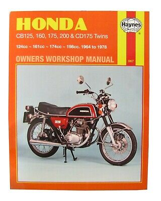 Honda CD 175 1967-78 (175 CC) - Haynes Workshop Manual