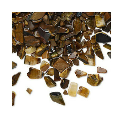 Packet of 50g Yellow/Brown Tiger Eye 3-10mm Undrilled Embellishment Chips YF0805