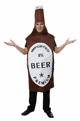 Mens Beer Bottle Fancy Dress Costume Comedy Stag Night