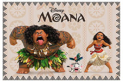 Moana Characters Disney Film Poster New - Maxi Size 36 x 24 Inch