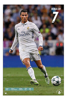 Real Madrid Ronaldo 2016 - 2017 Poster New - Maxi Size 36 x 24 Inch