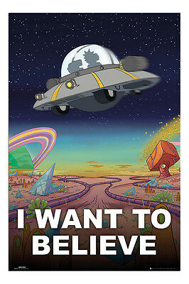 Rick And Morty I Want To Believe Poster New - Maxi Size 36 x 24 Inch
