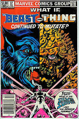 What If (1st series) # 37 (Beast / Thing/Silver Surfer)