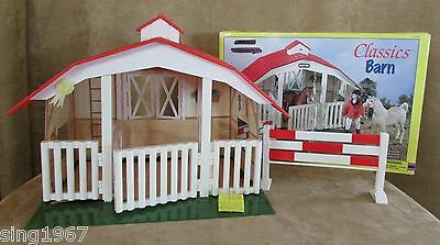 Breyer Classics Horse Barn 3 stall jump complete in box red roof Ages 4+ MIB