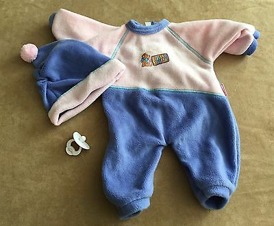 "Zapf baby doll Chou Chou pajamas 12"" pjs clothes clothing replacement pink"
