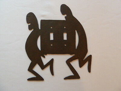 VINTAGE Handmade Iron Metal Odd Brutalist Lightswitch Plate Cover Old Retro Cool