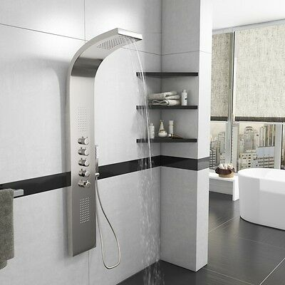 Shower Panel Tower Bathroom Column with Waterfall Massage Body Jets thermostatic