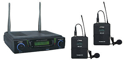 New PDWM3700 UHF 2 Ch Wireless Microphone 2 Adjustable Frequency /2 Headset Mics