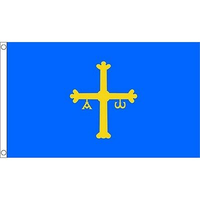 5 x 3' Asturias Flag - Spain Spanish 5ft 3ft With Metal Eyelets