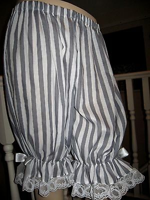 NEW Lolita Red White Stripes Lace Sissy Short Bloomers Pantaloons Gift party fun