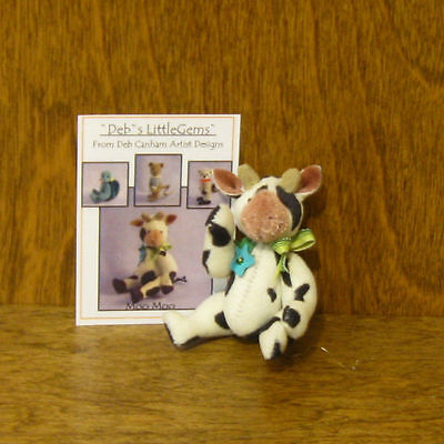 "DEB CANHAM Artist Designs MOO MOO, Deb's Little Gems Coll. 2.75"" jointed"