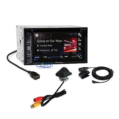 """Pioneer 6.2"""" Touchscreen DVD Bluetooth Radio Receiver w/ Rearview Backup Camera"""