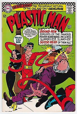 Plastic Man #1 F+ 6.5 Gil Kane Art First Issue!!