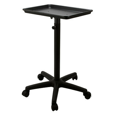 Steel BLACK Rolling Adjustable Salon Mayo Style Tray Medical Equipment Stand
