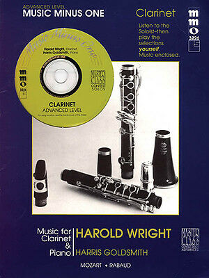Advanced Clarinet Solos Vol 2 Classical Sheet Music Minus One Book CD Pack NEW