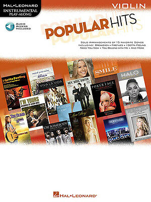 Popular Hits for Violin Solo Sheet Music Pop Songs Play-Along Book Online Audio