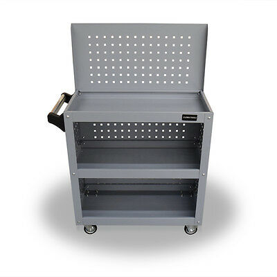 401 Us Pro Tools Grey Tool Cart Mobile Trolley Workbench Workstaion Box Pegboard