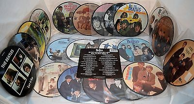 "The Beatles 20th Anniversary 22 x Picture Discs Set 7"" Vinyl 45RPM Singles UK"