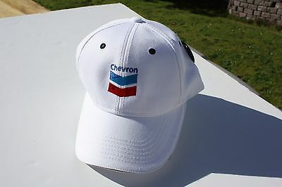 Ball Cap Hat - Chevron - Oil Gas - White - with Makers Tag (H1667)