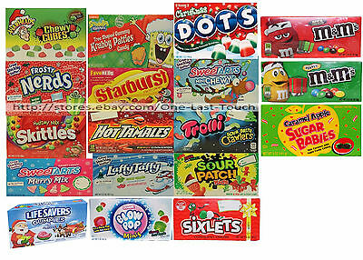 HOLIDAY^* Theater Box STOCKING STUFFER Candies/Candy NEW Exp. 5/17+ *YOU CHOOSE*