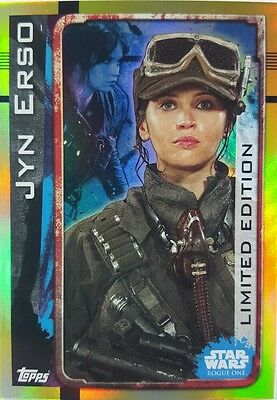 ROGUE ONE  Trading Card LIMITED EDITION CARD LE SA  JYN ERSO TOPPS  2016