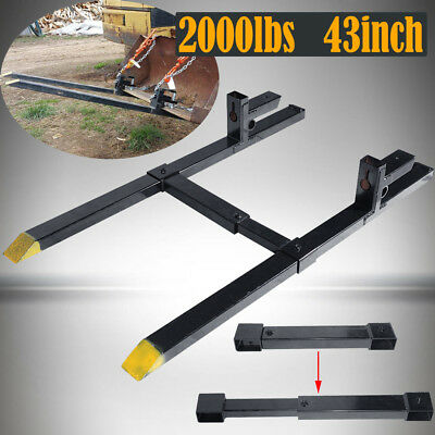 Pro 2000lbs capacity Loader Clamp on Pallet Forks Bucket Skidsteer Tractor chain