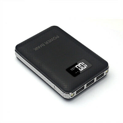50000mah Power Bank 3 USB LCD Dual LED External Battery Charger For Mobile Phone