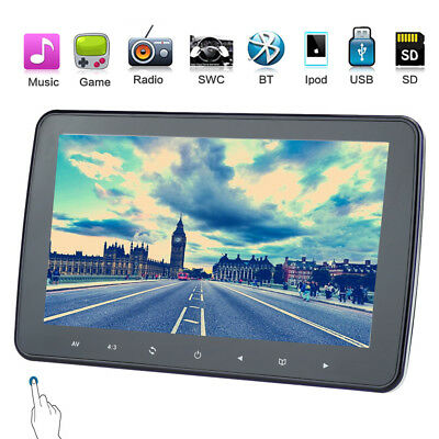 "10"" 1080P HD Digital MP5 MP3 Player LCD Screen Car Headrest Monitor TV FM Game"