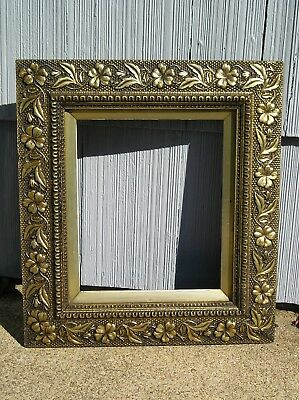 Rare Antique Aesthetic Eastlake Victorian Ornate Gold Floral Picture Frame 10~12