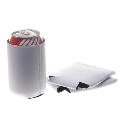 Lot x 10 White Stubby Collapsible Foldable Can Drink Holder Cooler Stand