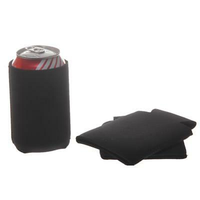 10pcs Black Stubby Collapsible Foldable Can Drink Holder Cooler Stand Gift