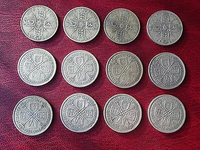 George V  Florins Two Shillings 1920 - 1936  Nice Selected Condition