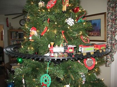 Light Sounds Animated Christmas Train Set Holiday Decoration Mounts in Tree