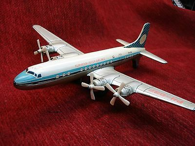 Daiya Vintage - Klm-Royal Dutch Airlines - Ph-Dsf- Tin Toy Airplane - Friction