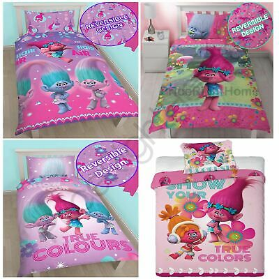 Trolls Duvet Cover And Pillowcase Sets - Kids Bedding New Official Free P+P