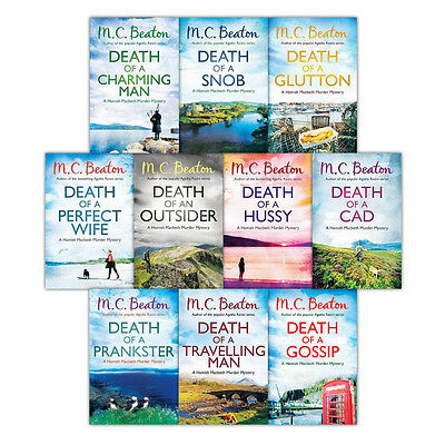Hamish Macbeth Murder Mysteries 10 Books Set Collection By M.C Beaton