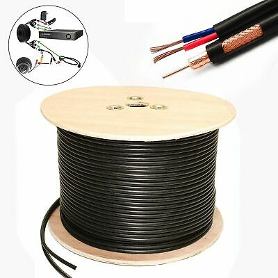 LMS Data Cr-59 RG59 Shotgun Cable Video/Power Reel, 100m, Black