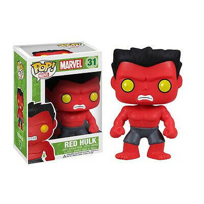 FUNKO POP Marvel RED HULK #31 RETIRED Vinyl Collectable In Box Kid Birthday Gift