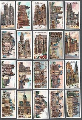 1916 Wills's Cigarettes Gems of French Architecture Tobacco Cards Complete Set