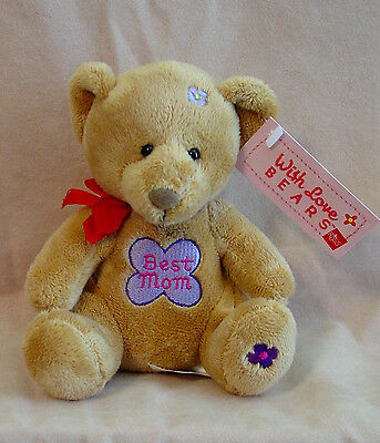 "Russ - With Love Bears - ""Best Mom"" Teddy Bear - New"