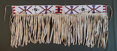 Very Rare 1890's Native American Plains Crow Cheyenne Arapaho Beaded Dance Skirt